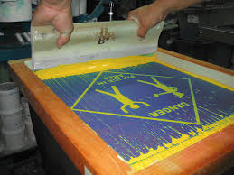 Screen printing process step by step