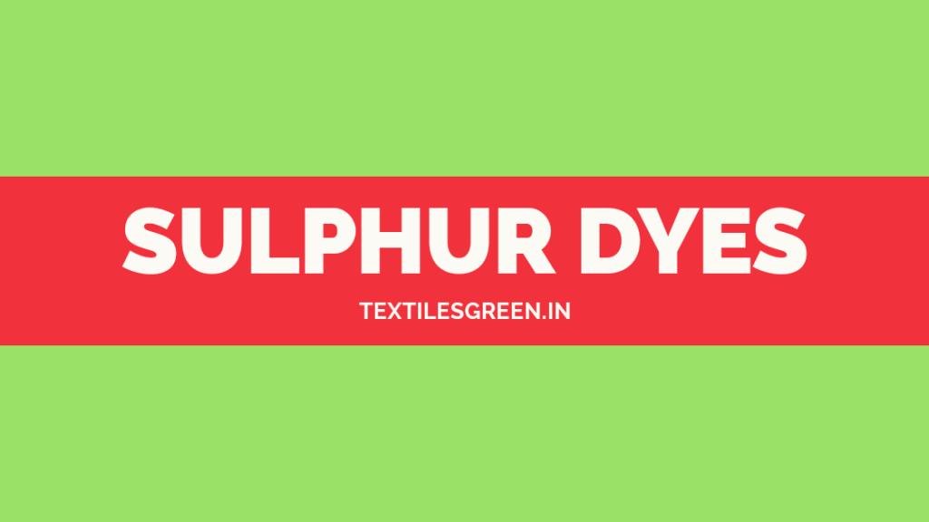 sulphur dyeing