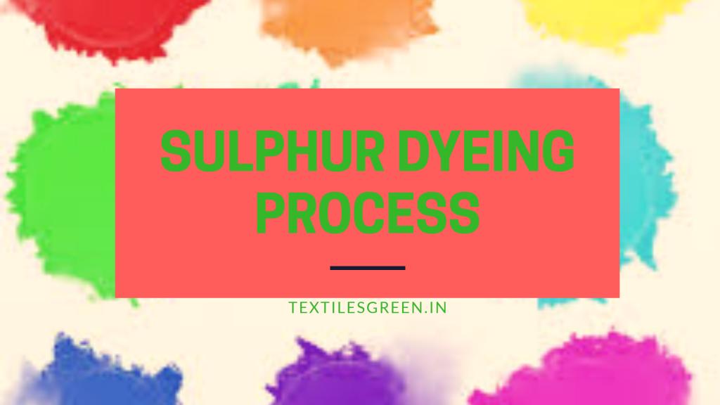 Sulphur dye process