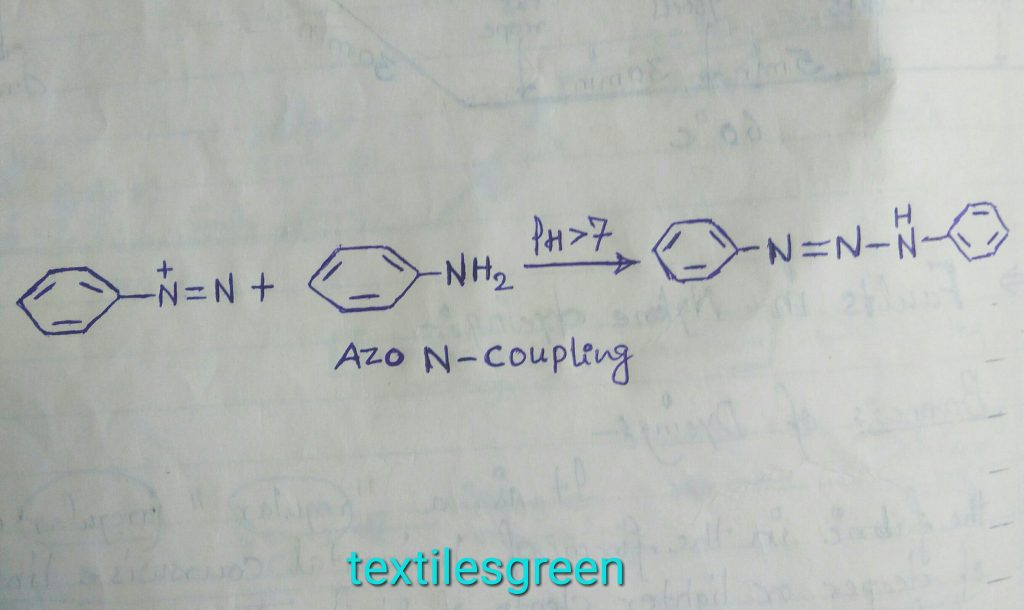 Coupling reaction with aniline