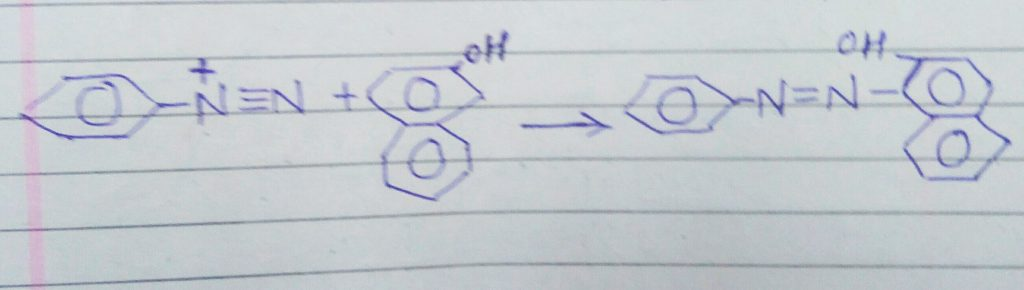 Coupling reaction with beta - nephthol