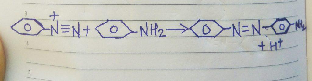 Azo dye reaction for aniline