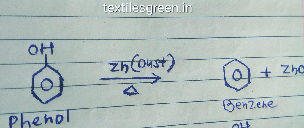 Phenol to benzene