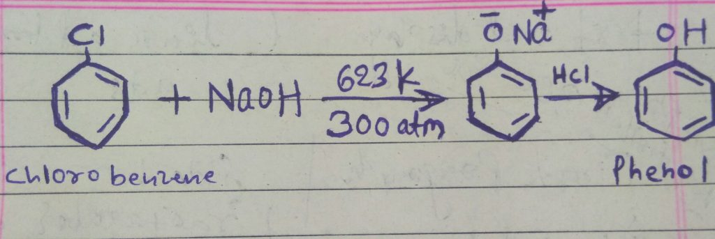Making phenol from chlorobenzene