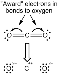 Electrons in bonds to oxygen