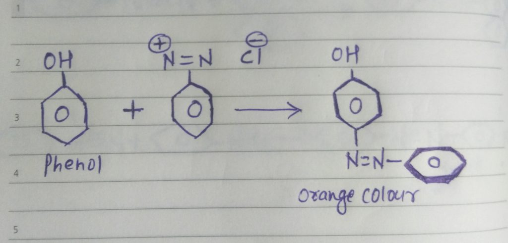 azo dye test for phenol
