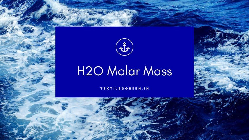 h2o molar mass