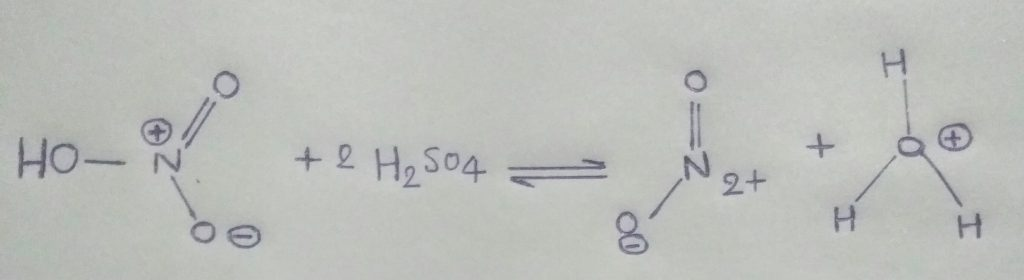 Formation of nitronium ion