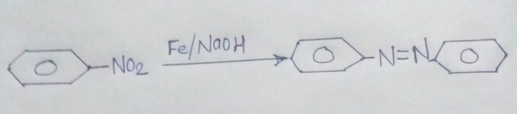 Reduction of nitrobenzene