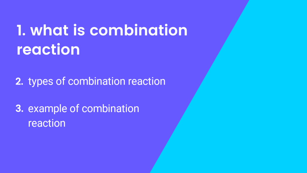 what is combination reaction