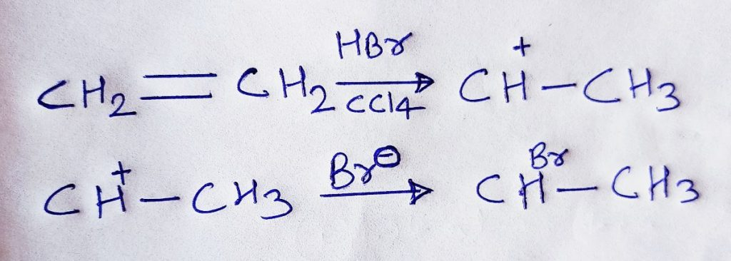 electrophilic addition mechanism